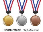 three medals  gold  silver and... | Shutterstock . vector #426652312