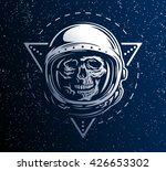 lost in space. a dead astronaut ... | Shutterstock .eps vector #426653302