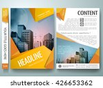 brochure design template vector.... | Shutterstock .eps vector #426653362
