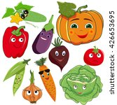 vector  isolated  set vegetable ... | Shutterstock .eps vector #426653695