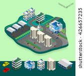 vector isometric city center... | Shutterstock .eps vector #426657235