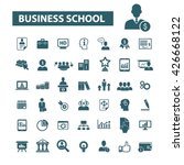 business school icons  | Shutterstock .eps vector #426668122