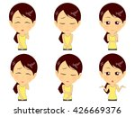 fitness woman set | Shutterstock .eps vector #426669376