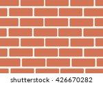 wall of bricks background art... | Shutterstock .eps vector #426670282