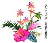 vector vintage style floral... | Shutterstock .eps vector #426671992