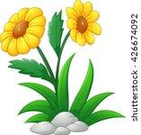 sun flower cartoon