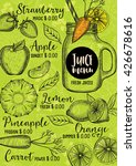 juice menu placemat drink... | Shutterstock .eps vector #426678616