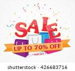 sale banner and best offer... | Shutterstock .eps vector #426683716
