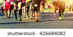 unidentified marathon athletes... | Shutterstock . vector #426684082