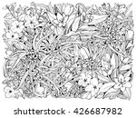 spring flowers. black and white ... | Shutterstock .eps vector #426687982