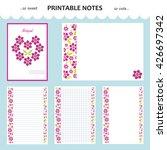 vector design set of printable... | Shutterstock .eps vector #426697342