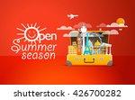 travel bag vector illustration. ... | Shutterstock .eps vector #426700282