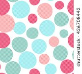 seamless dots pattern with... | Shutterstock .eps vector #426708442