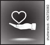 heart on hand sign icon  vector ... | Shutterstock .eps vector #426720382