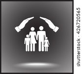 family life insurance sign icon ... | Shutterstock .eps vector #426720565