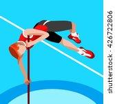 athletics pole vault 2016... | Shutterstock . vector #426722806