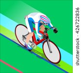 track cycling cyclist bicyclist ... | Shutterstock . vector #426722836