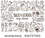 back to school doodle elements | Shutterstock .eps vector #426727432