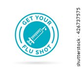 get your flu shot vaccine sign...