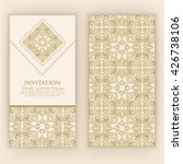 invitation  cards with ethnic...   Shutterstock .eps vector #426738106