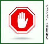 no entry hand sign icon  vector ... | Shutterstock .eps vector #426739678