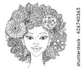 uncolored girlish face for... | Shutterstock .eps vector #426740365