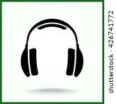 headphone sign icon  vector... | Shutterstock .eps vector #426741772