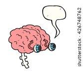 freehand drawn speech bubble... | Shutterstock .eps vector #426748762