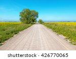 Dirt Road Running Through The...