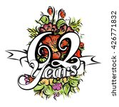 62 years with nice bouquet of... | Shutterstock .eps vector #426771832