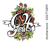 64 years with nice bouquet of... | Shutterstock .eps vector #426771895