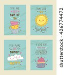 set of creative vintage cards... | Shutterstock .eps vector #426774472