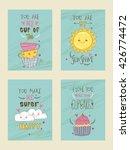 set of creative vintage cards... | Shutterstock .eps vector #426774472