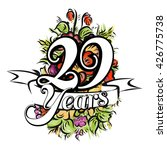 29 years with nice bouquet of... | Shutterstock .eps vector #426775738