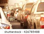 traffic jams in the city   rush ... | Shutterstock . vector #426785488