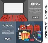 vector flat horizontal banners... | Shutterstock .eps vector #426786802