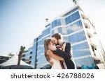 elegant beautiful couple posing ...   Shutterstock . vector #426788026