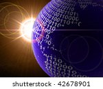 binary code on a surface of a...   Shutterstock . vector #42678901
