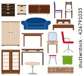 set of furniture icons  vector... | Shutterstock .eps vector #426791035