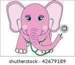 pink doctor elephant vector | Shutterstock .eps vector #42679189
