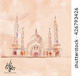 illustration of ramadan kareem...   Shutterstock .eps vector #426793426