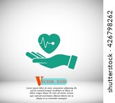 hands of the heart icon | Shutterstock .eps vector #426798262