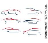 line  silhouette car... | Shutterstock .eps vector #426798436