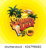 summer sale template banner | Shutterstock .eps vector #426798682