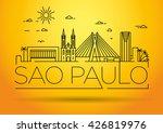 minimal sao paulo city linear...   Shutterstock .eps vector #426819976