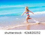 Happy Child Running And Jumping ...
