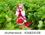 Child Picking Strawberries....