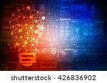 bulb future technology ... | Shutterstock . vector #426836902