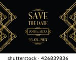save the date wedding invitation | Shutterstock .eps vector #426839836
