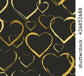 seamless pattern with symbols... | Shutterstock .eps vector #426852688